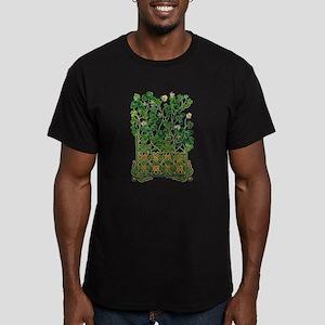 Celtic Shamrock Men's Fitted T-Shirt (dark)