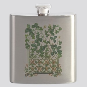 Celtic Shamrock Flask