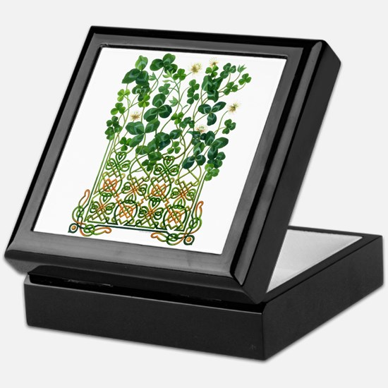 Celtic Shamrock Keepsake Box