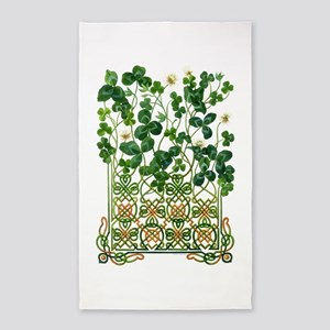 Celtic Shamrock 3'x5' Area Rug