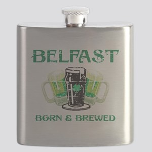 Belfast Born And Brewed Flask