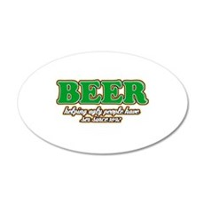 Funny Beer Designs Wall Decal