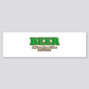 Funny Beer Designs Sticker (Bumper)