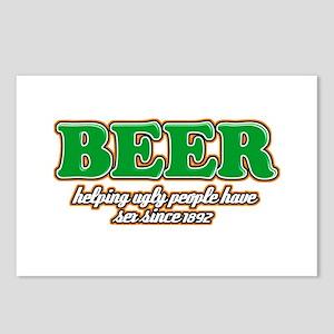 Funny Beer Designs Postcards (Package of 8)