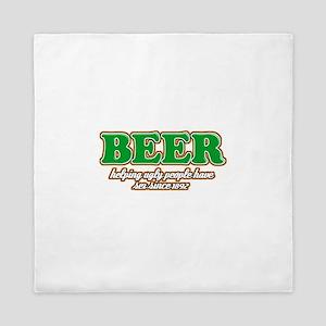 Funny Beer Designs Queen Duvet
