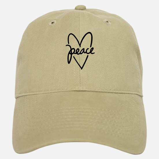 Peace Heart Baseball Baseball Cap
