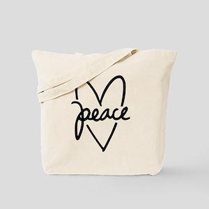 Peace Heart Tote Bag