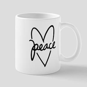 Peace Heart 11 oz Ceramic Mug