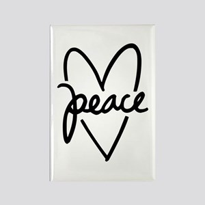 Peace Heart Rectangle Magnet