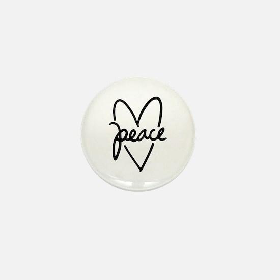 Peace Heart Mini Button