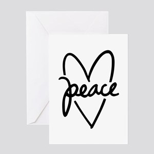 Peace Heart Greeting Card