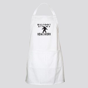 BIGFOOT ATE MY HOMEWORK Apron