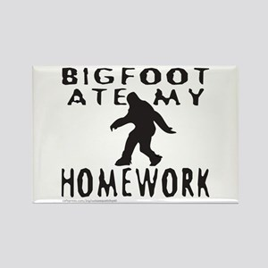 BIGFOOT ATE MY HOMEWORK Rectangle Magnet