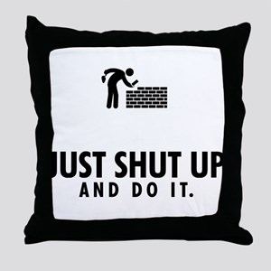 Bricklayer Throw Pillow