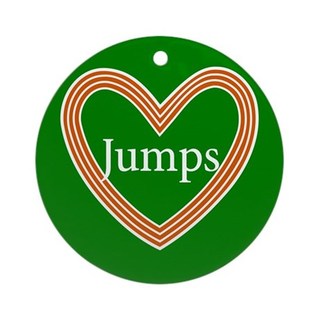 Track and Field Love Jumps Heart Ornament (Round)