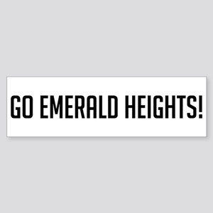 Go Emerald Heights Bumper Sticker