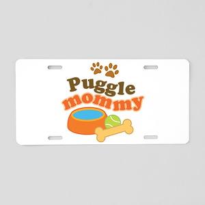 Puggle Mommy Dog Mom Aluminum License Plate