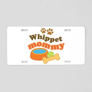 Whippet Mommy Aluminum License Plate
