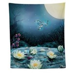 Lotus Pond Wall Tapestry