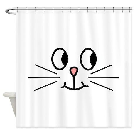 Cute Cat Face. Shower Curtain by Metarla3