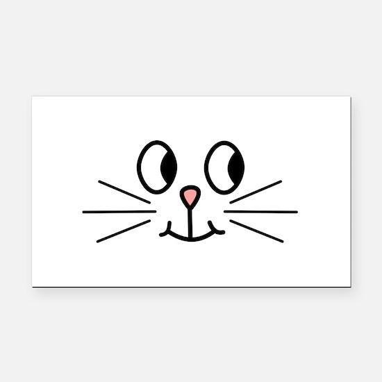 Cute Cat Face. Rectangle Car Magnet