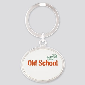 Old School Style Oval Keychain