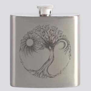 Tree of Life Design Flask