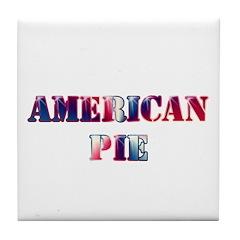 American Pie Tile Coaster