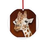 Giraffe - Holiday Ornament (Round)
