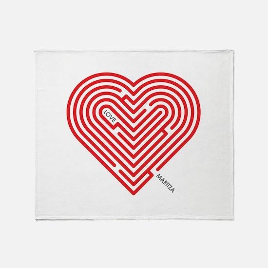 I Love Maritza Throw Blanket