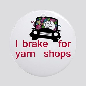 Brake for yarn shops Ornament (Round)