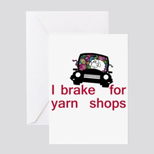 Brake for yarn shops Greeting Card