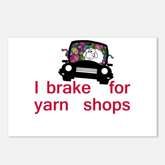 Brake for yarn shops Postcards (Package of 8)