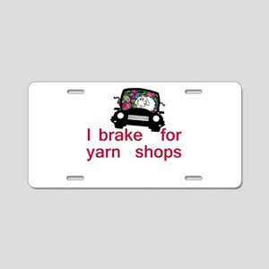 Brake for yarn shops Aluminum License Plate
