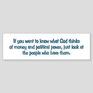 Money & Power Bumper Sticker