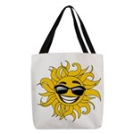 Smiley Face Sun Polyester Tote Bag