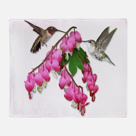 Cute Bleeding heart Throw Blanket