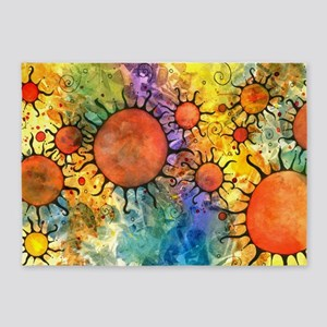 Primordial Suns 2 5'x7'Area Rug