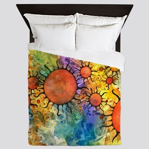 Primordial Suns 2 Queen Duvet Cover