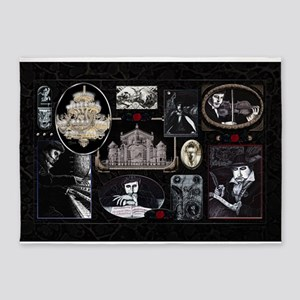 Phantom Phantasia Collage 5'x7'Area Rug