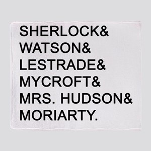 Sherlock Names Throw Blanket