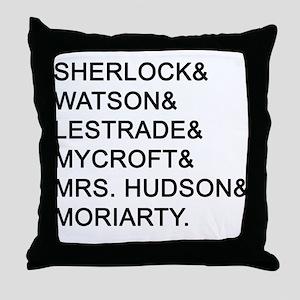 Sherlock Names Throw Pillow