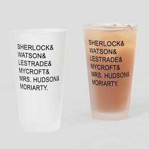 Sherlock Names Drinking Glass