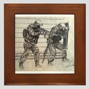 Police Tactics Framed Tile