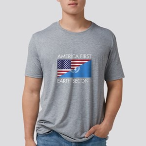 America First Earth Second Mens Tri-blend T-Shirt