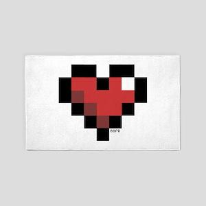 Pixel Heart 3'x5' Area Rug