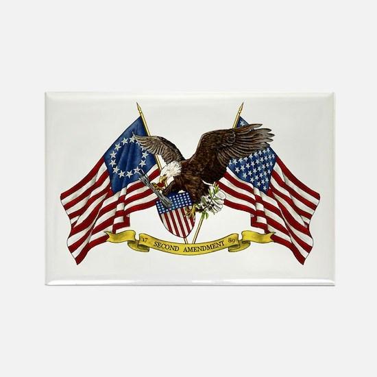 Second Amendment Liberty Eagle Rectangle Magnet (1