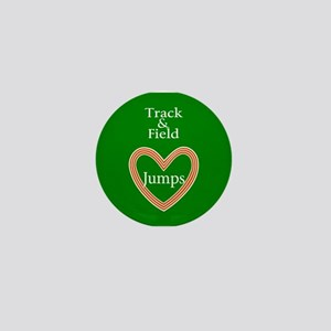 Track and Field Love Jumps Mini Button