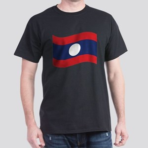 Laos Lao Flag Wave T-Shirt
