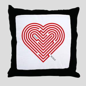I Love Noelle Throw Pillow